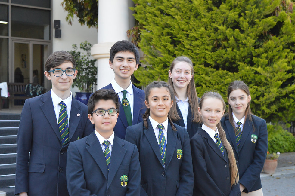 international students at school