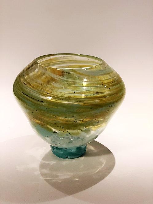 Multi-Colored Green Bowl