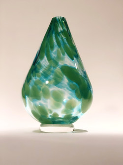 Multi-Green Narrow Vase