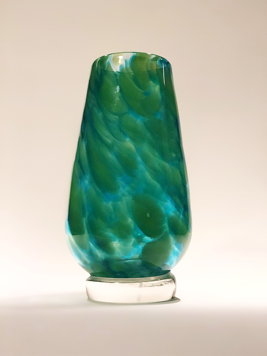 Multi-Green Wide Vase
