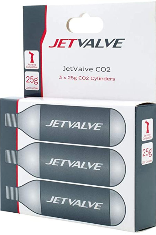 Jet Valve 3x 25g Co2 Cylinders