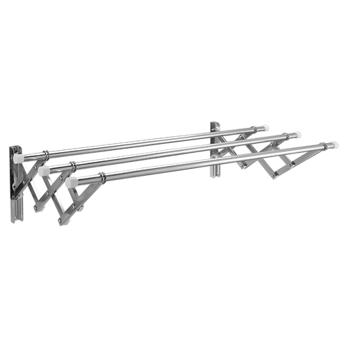 Giàn phơi inox 304 xếp ống 19mm thông minh cao cấp Goda inox 304 loại 1mét