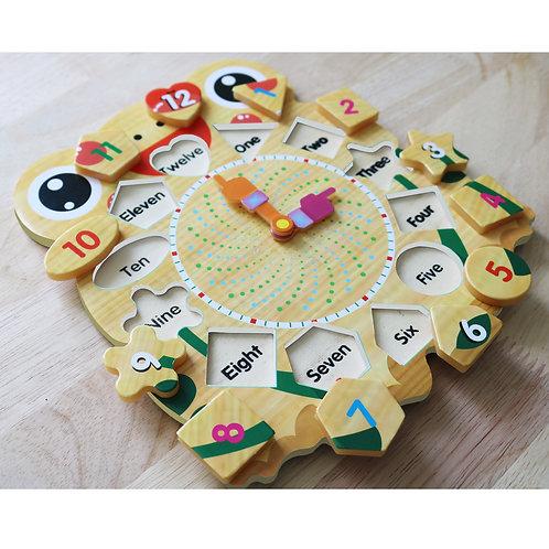 Bộ đồng hồ gỗ ghép hình cao cấp Prota dành cho bé trai + quà tặng