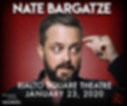 Nate Bargatze at Rialto Square Theatre