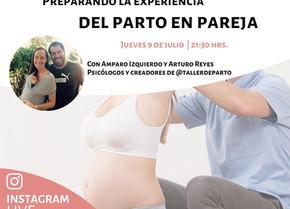 """Charla live """"Preparando la experiencia de parto en pareja"""""""