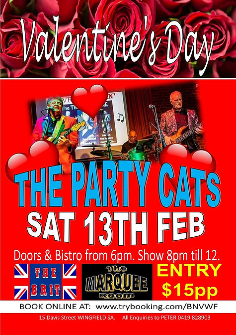 VALENTINES DAY   PARTY CATS 2021   POSTE