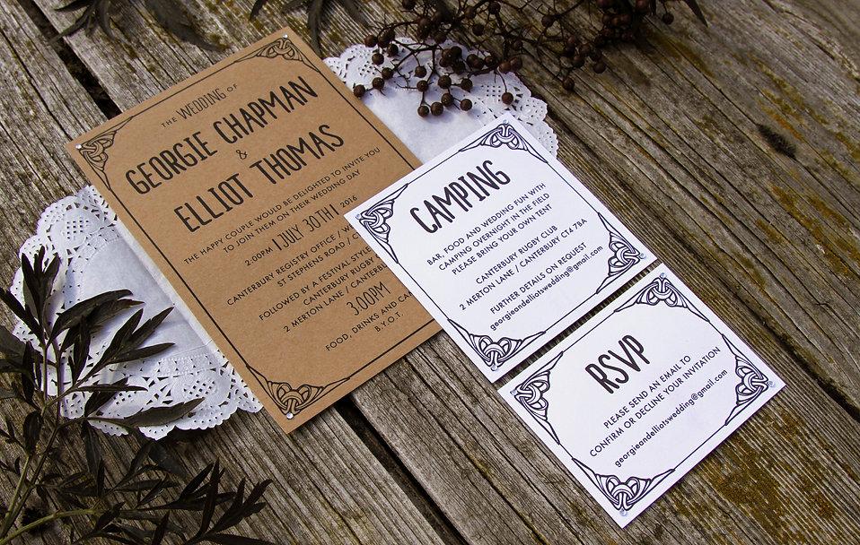 wedding invitation design, rustic invitations, handmade invitation, hand-made invitation, page layout, graphic design, typography