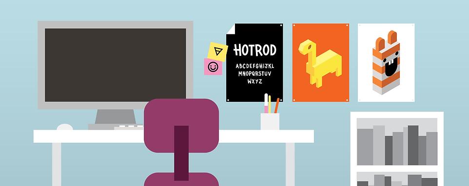 graphic design, vector design, illustration, vector illustration, illustrator, vector, desk, room, desk drawing,
