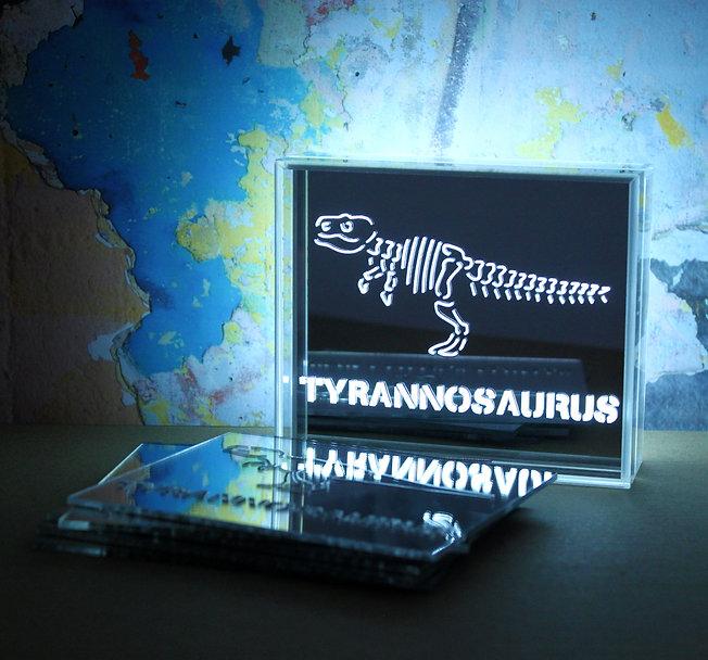 LED acrylic dinosaur light