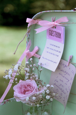 suitcase guestbook