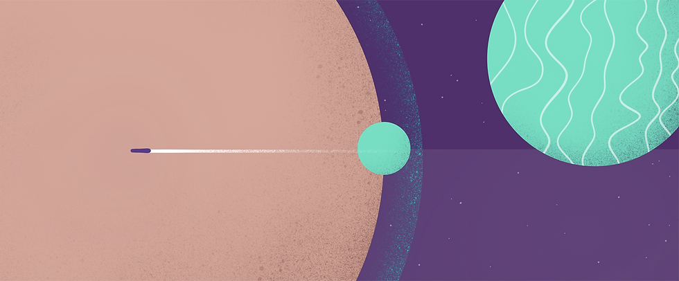 Retro Futuristic Space Illustration