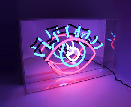 peep show neon sign light