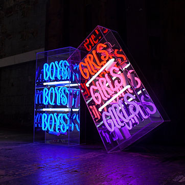 peep show neon light sign