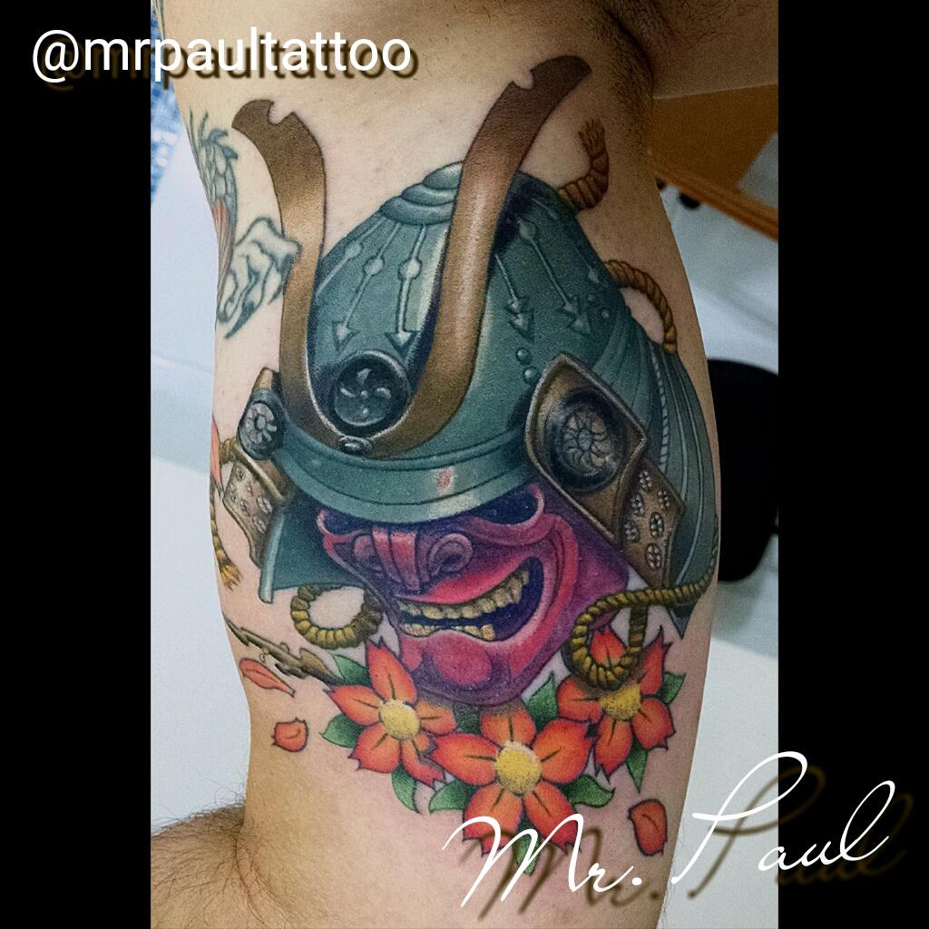 Máscara_de_samurai_tattoo_mrpaul_dermographic_ribeirão_preto