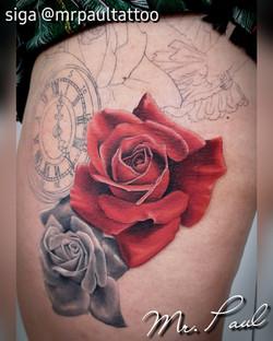 rosa vermelha 2 tatuagem tattoo mrpaul d