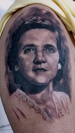 portrait retrato tattoo mrpaul dermograp