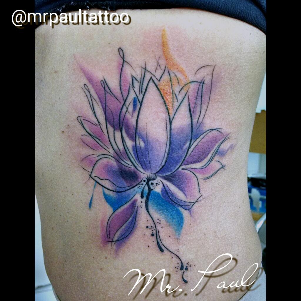Flor_de_lotus_watercollor_tattoo_mrpaul_dermographic_ribeirão_preto