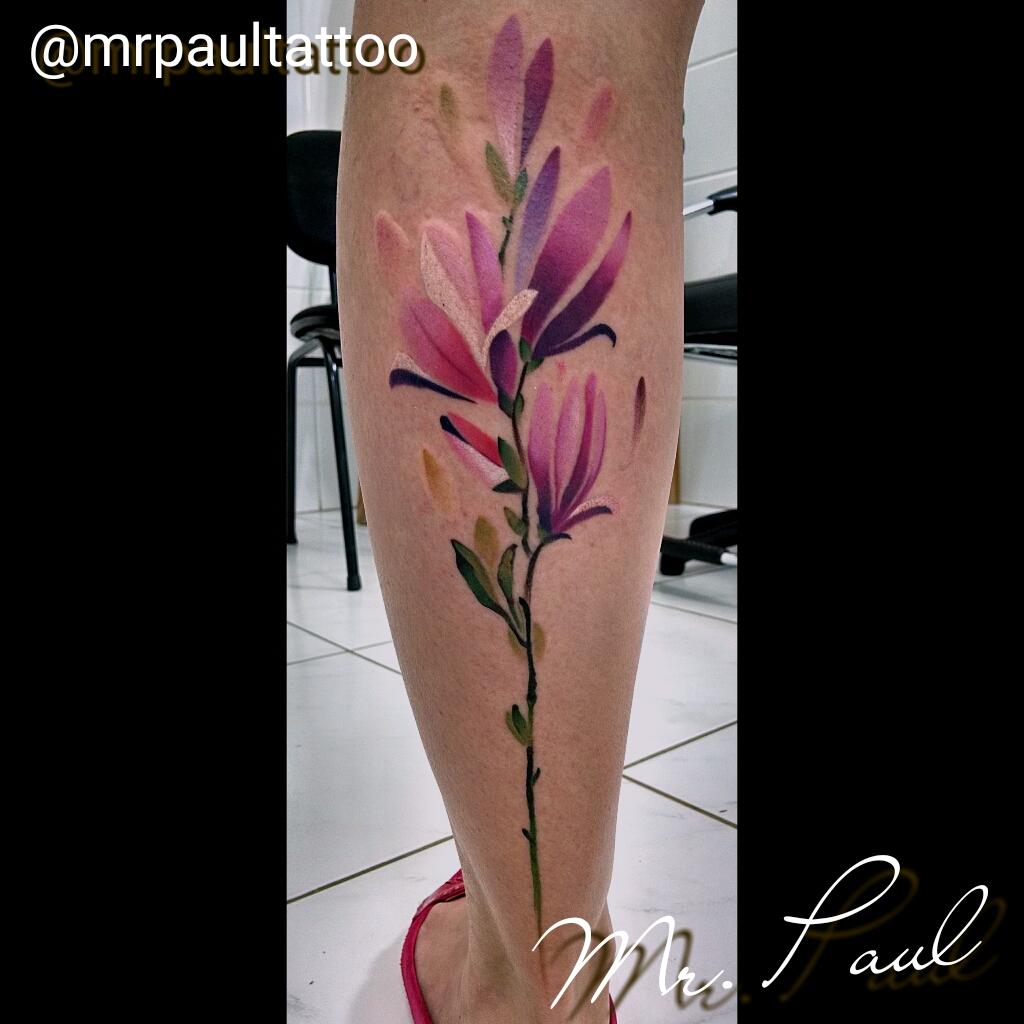 Flores_watercollor_perna_tattoo_mrpaul_dermographic_ribeirão_preto