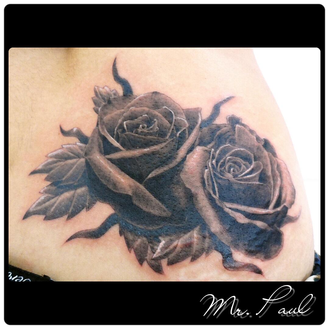 rosas+sombreada+mrpaul+ribeirao+preto+tattoo+dermographic