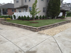 Jersey shore wall, plants, and sod