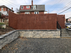 Wall, Fence, and steps