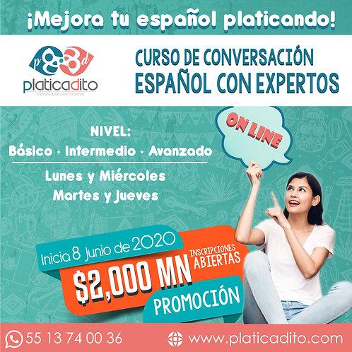 Curso Conversación de español con Expertos