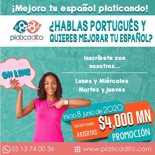 Curso de Español. Grámatica diferenciativa Portugués-Español..
