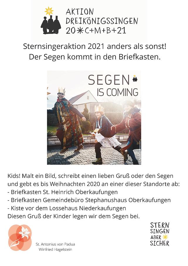 Die Sternsingeraktion 2021 kann leider n