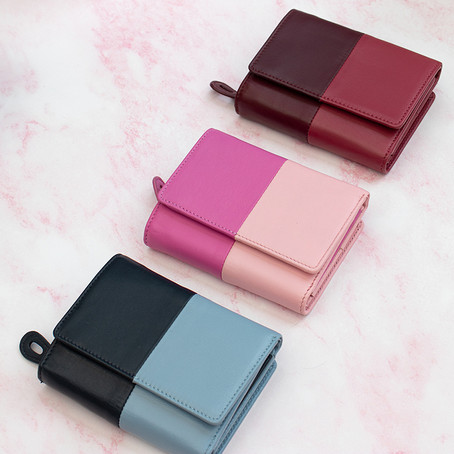 Just4Leather - Clara Ladies Two-Tone Leather Wallets