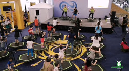 Sunlife Live Healthier Lives Community Event - Jumping Fitness