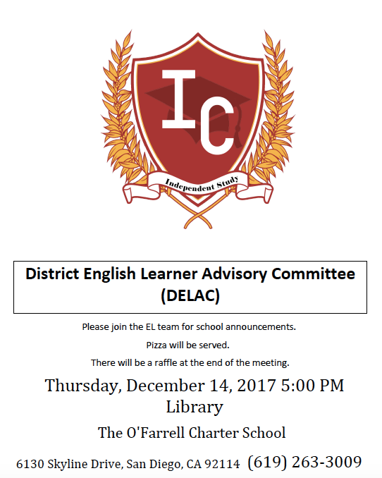 District English Learner Advisory Committee (DELAC) Meeting