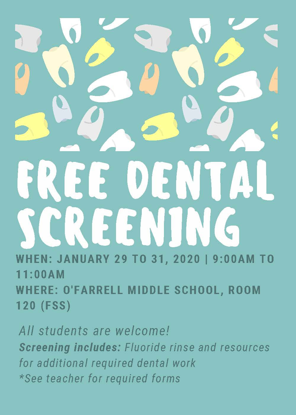 Dental Screening Flyer
