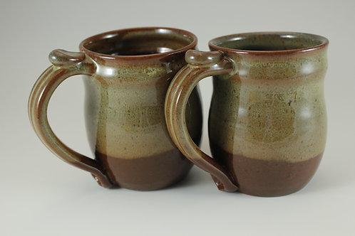 Oribe over Red-Brown Mug
