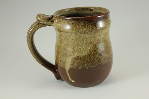 Gloss White over Red-Brown Mug