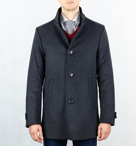 K-03 Płaszcz męski w kratę