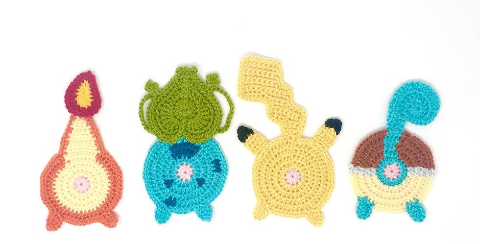 Pokébutt coaster starter set || Crochet Pattern