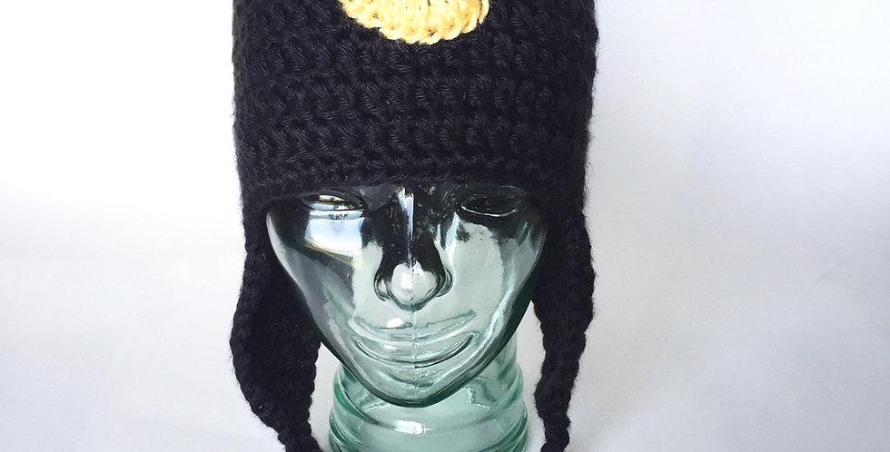 Lunar Cat earflap hat || Crochet Pattern