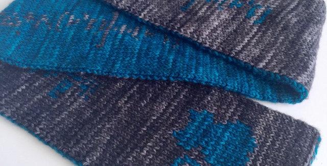 Schrödinger scarf || Knitting Pattern