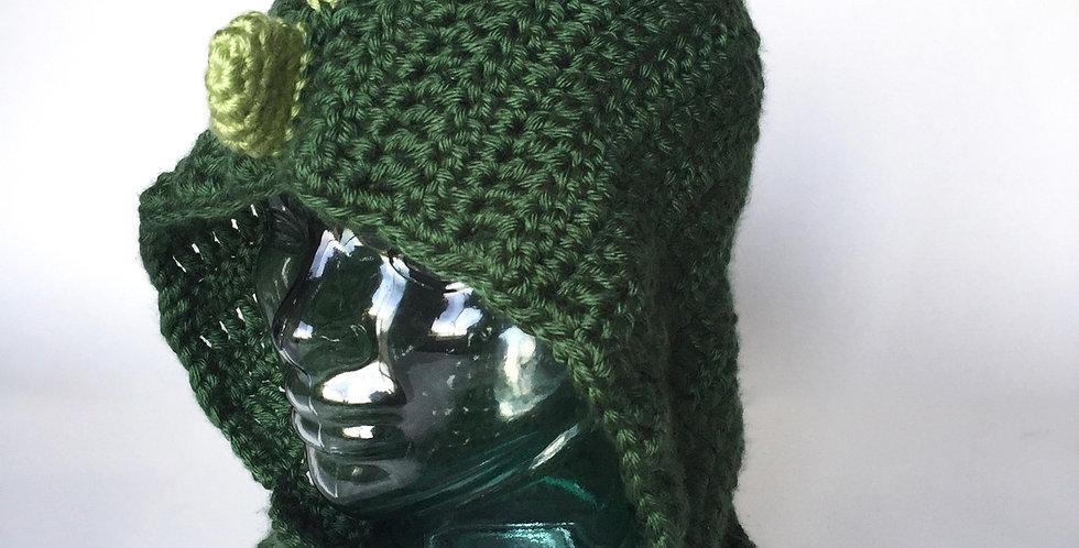 Hoodasaurus Rex hooded cowl || Crochet Pattern