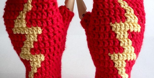 Lightning mitts || Crochet Pattern