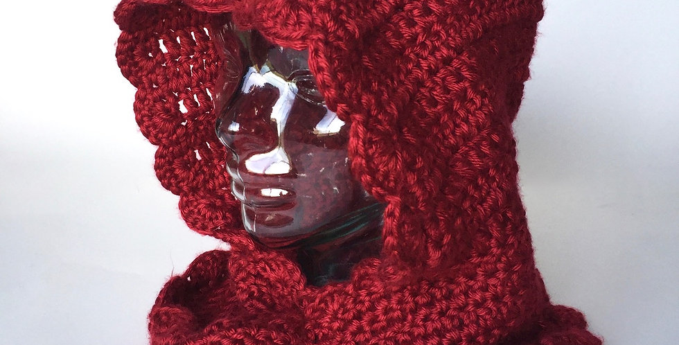 Red Riding Hood cowl || Crochet Pattern