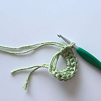 Magic double ring crochet