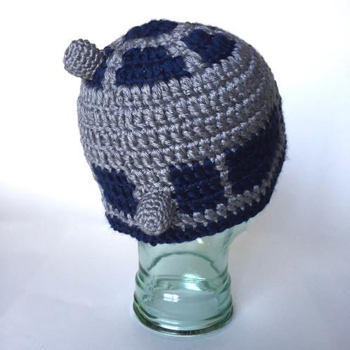 R2d2 Beanie Star Wars Crochet Pattern Level Up Nerd Apparel