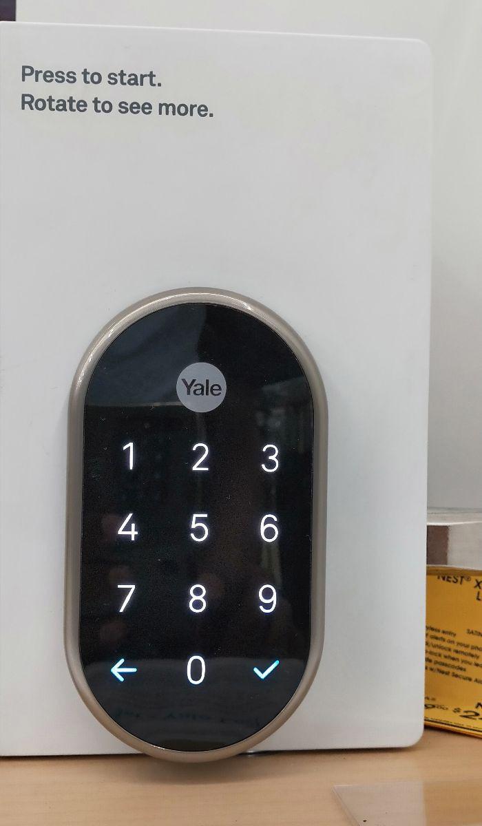 Yale Nest X smart door lock key pad