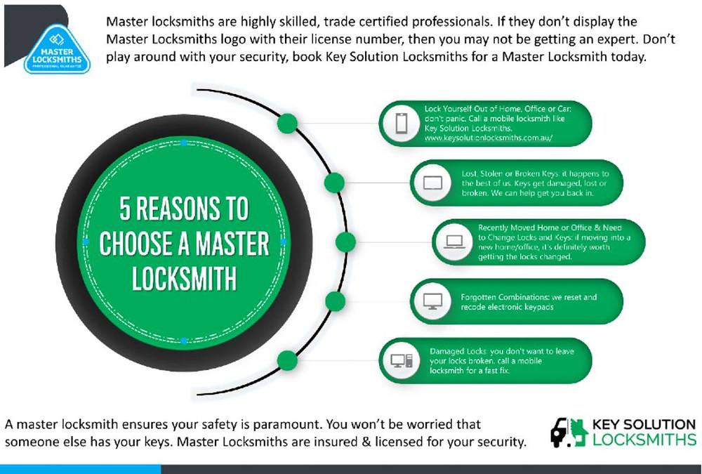 5 reasons to choose a master locksmith