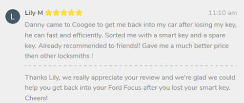 review from Coogee local for car locksmith service
