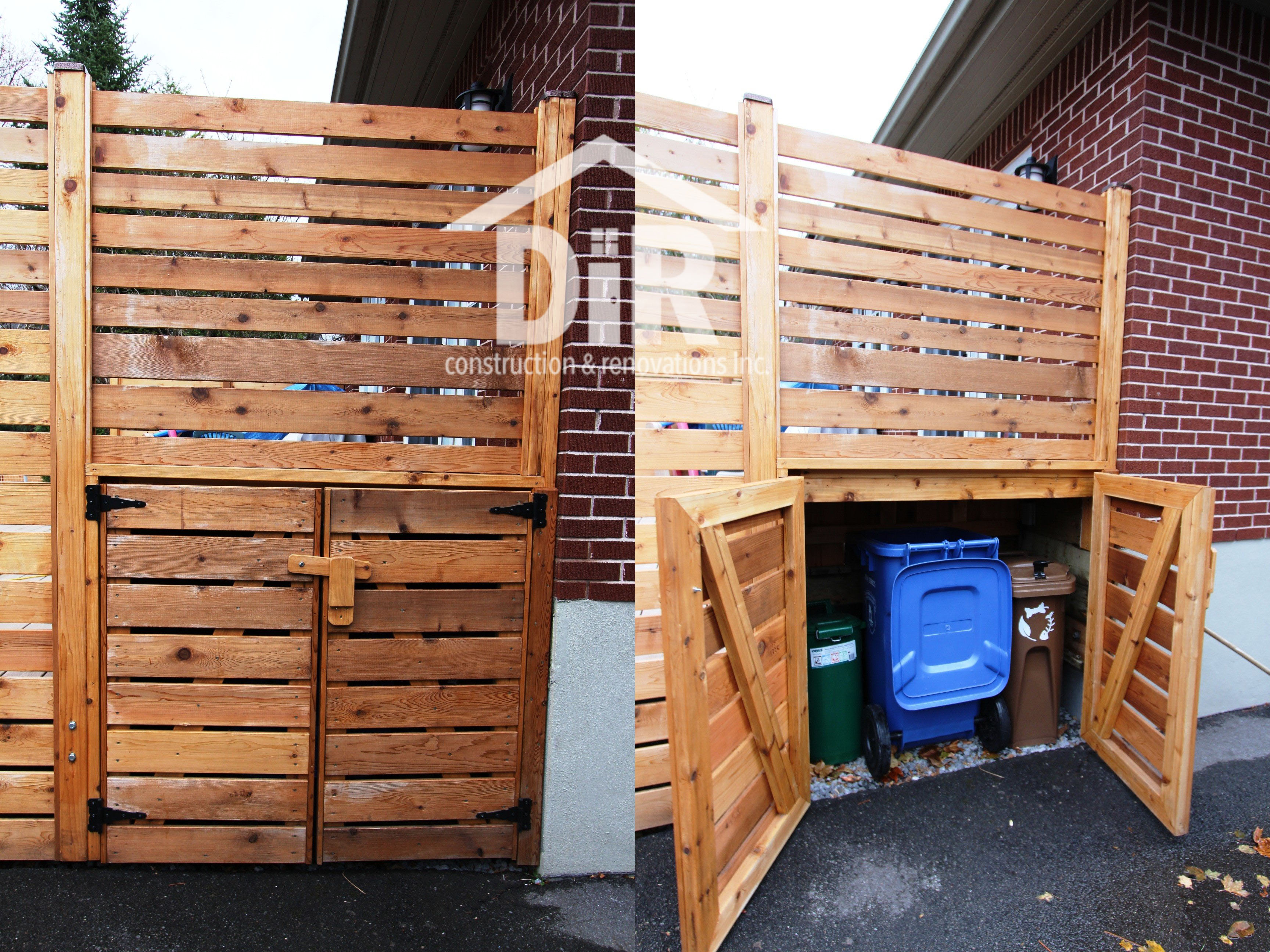 Recycling and Garbage Bin Storage