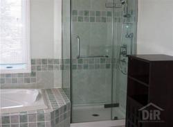 Shower Glass Door Teal Tile