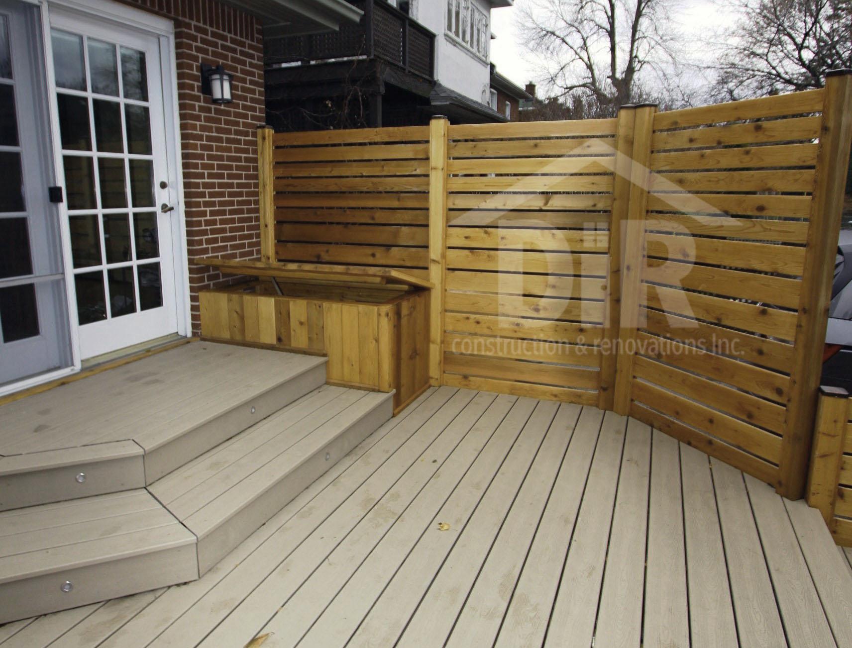 Composite Deck Cedar Screen
