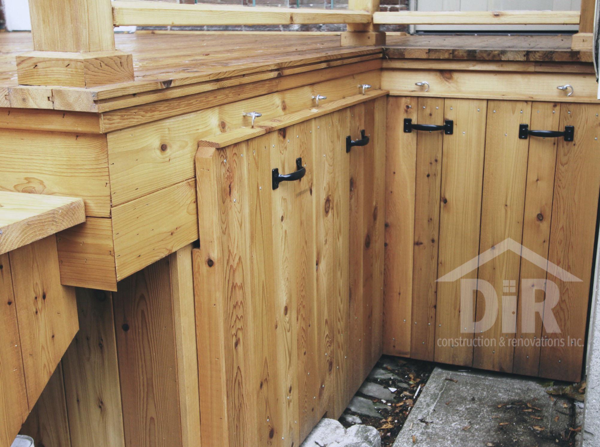 Cedar Deck with Storage